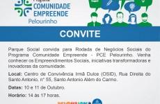 O Parque Social realiza, nos dias 10 e 11 de outubro, a Rodada de Negócios Sociais do Programa Comunidade Empreende – PCE Pelourinho