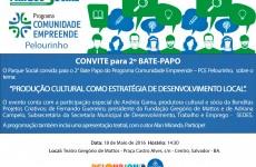 Parque Social convida a comunidade para evento sobre Cultura e Desenvolvimento Local